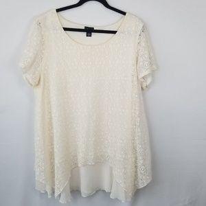 Sinply Emma Assymetrical Lace Tunic